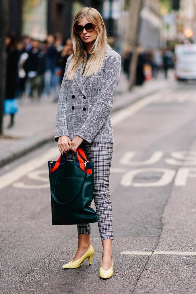 Plaid Blazers on Street Style Stars