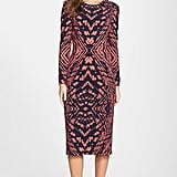 Maggy London Tie Dye Print Crepe Midi Sheath Dress ($138)