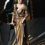 Meryl Streep accepted the best actress award for her role in The Iron Lady.