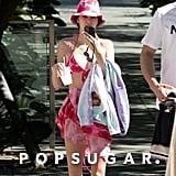 Kendall Jenner Wearing a Tie-Dye Bikini Look at the Pool in Miami