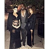Kim Kardashian, Kanye West, and Charlene Roxborough