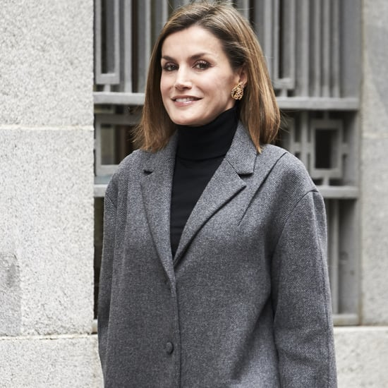 Queen Letizia Wears Black Turtleneck Winter 2016