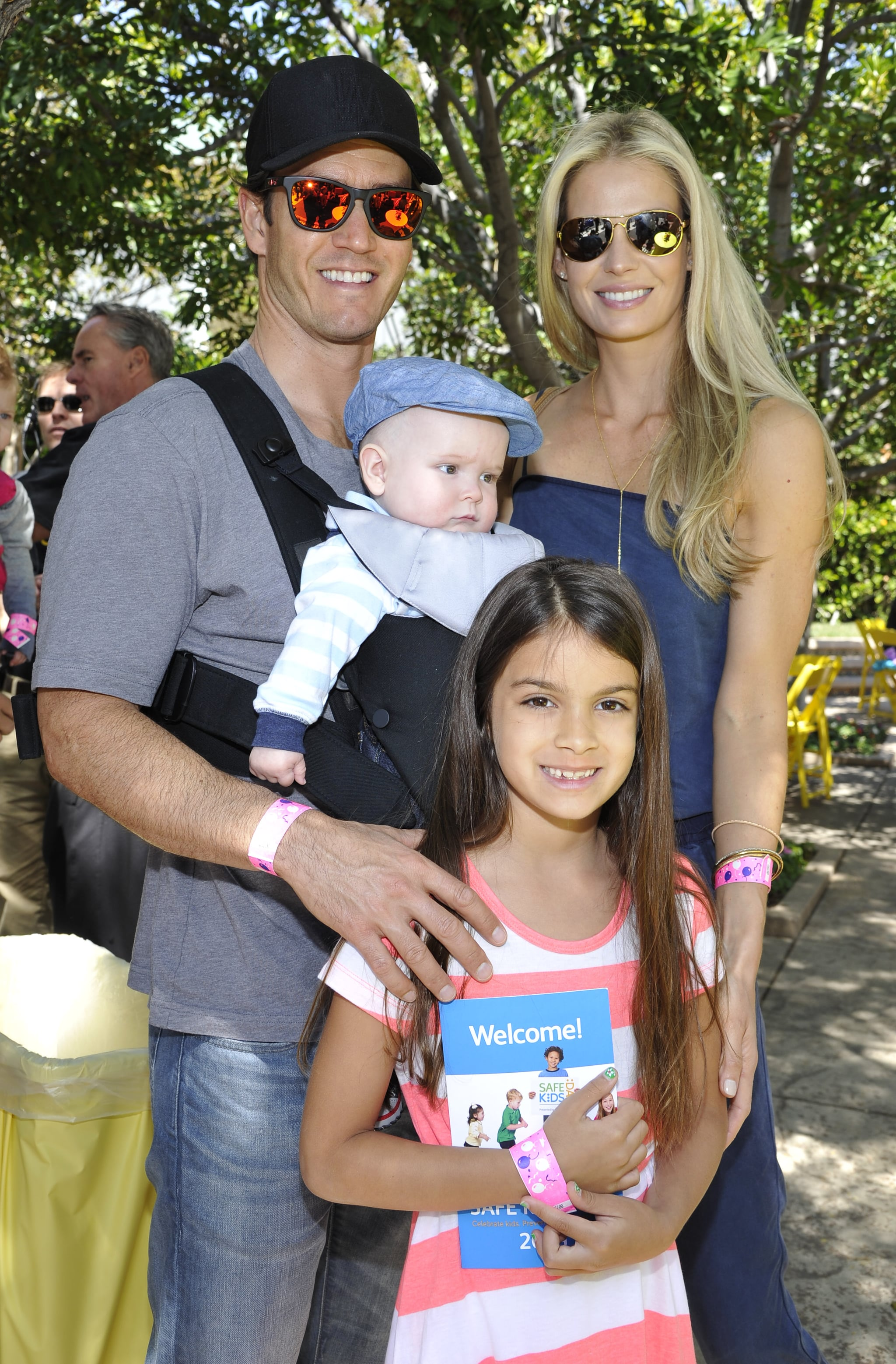 Mark enjoyed the day with his wife, Catriona McGinn, and their kids, Michael and Ava.