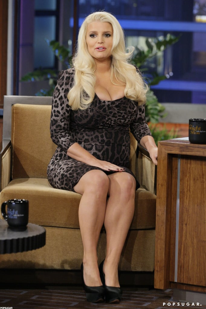 Jessica Simpson talked pregnancies on The Tonight Show.