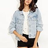 Shein Bleach Wash Denim Jacket