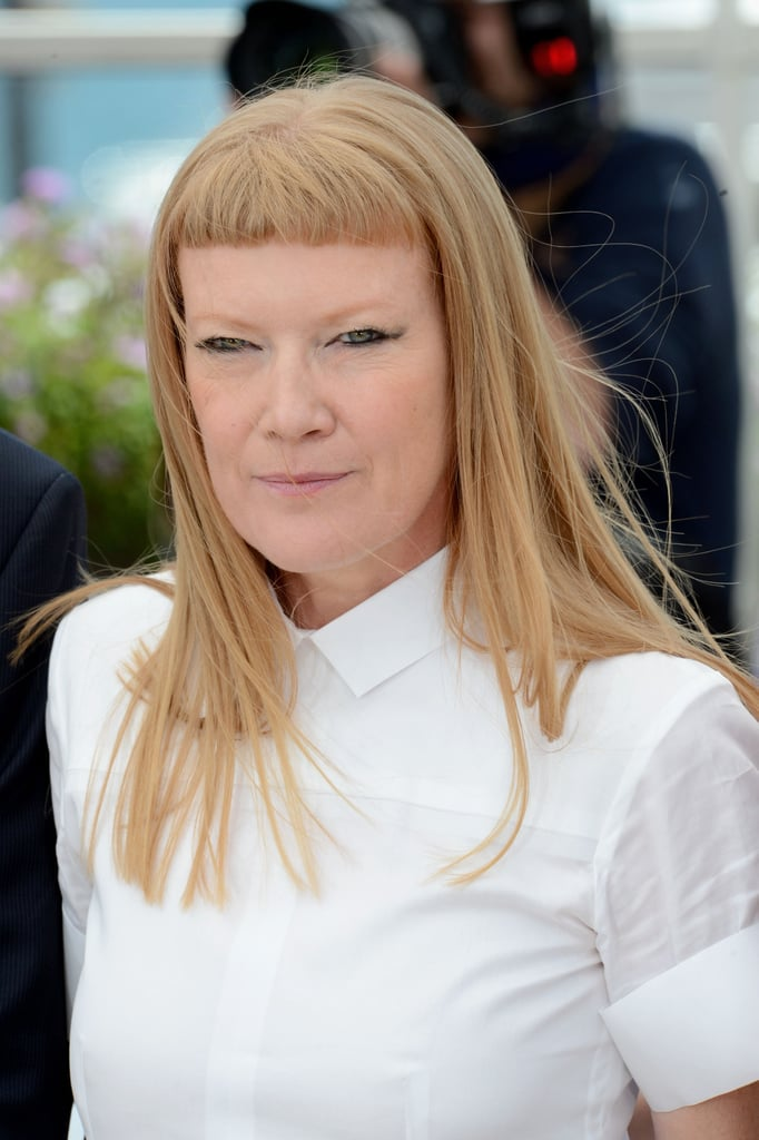 Andrea Arnold wore an all white emsemble for the jury photocall in Cannes.