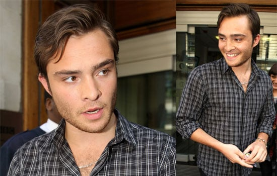 Photos Of Ed Westwick In London At Radio One, Video Clip Of His Interview On GMTV