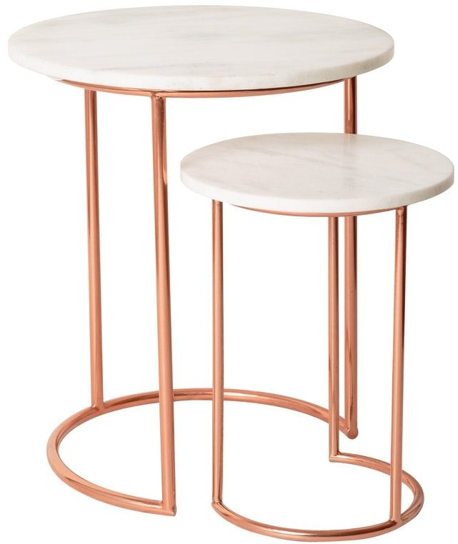 Muse Marble & Copper Nesting Tables