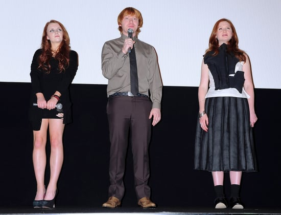 Rupert Grint, Bonnie Wright, Evanna Lynch at Harry Potter and the Deathly Hallows Premiere in Tokyo, Japan