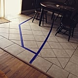 When you spend hours making your son an awesome road out of tape . . .
