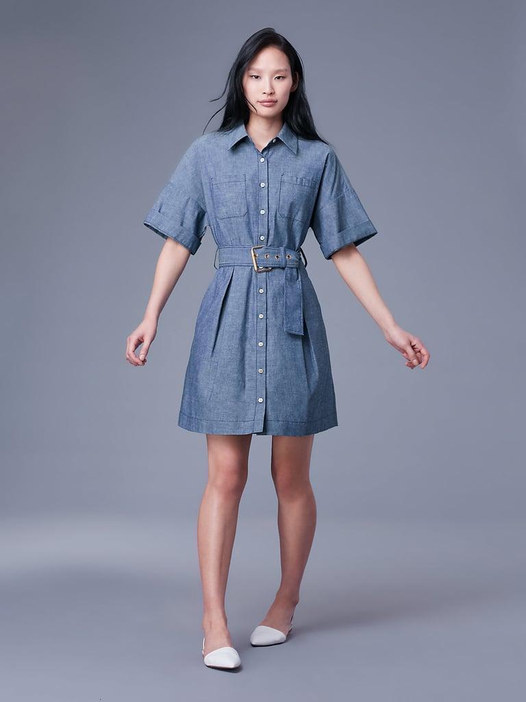 Diane Von Furstenberg Button Up Belted Shirt Dress