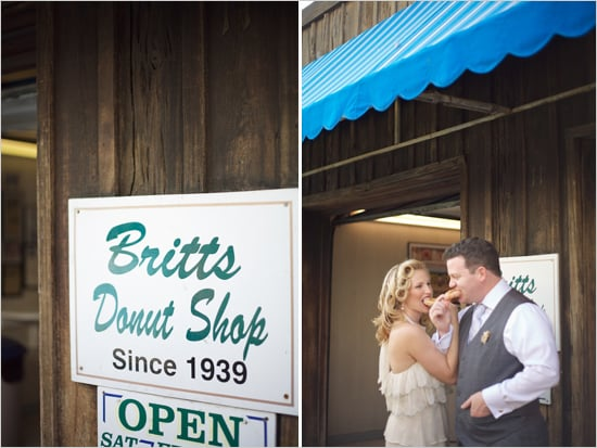 The Food Not only can you pick whatever food and dessert you'd like — no guest food allergies or diet restrictions to consider — but you'll actually be able to eat in peace, instead of running around greeting all the guests at the reception. You can even just share doughnuts if you want!  Photo by Live View Studios via Wedding Chicks