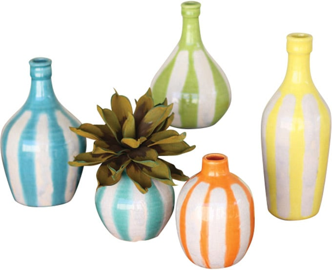 Ceramic Vases Set of 5 ($114)