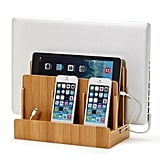Eco-Friendly Bamboo Multi-Device Charging Station and Dock