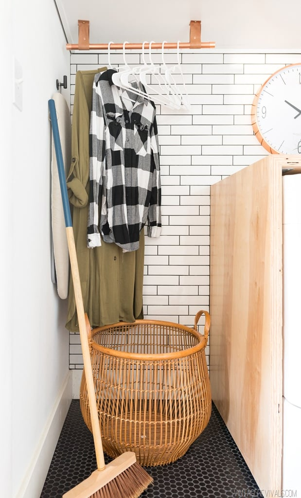 Copper And Leather Hanging Rack Laundry Room Ideas Popsugar Home Australia Photo 2