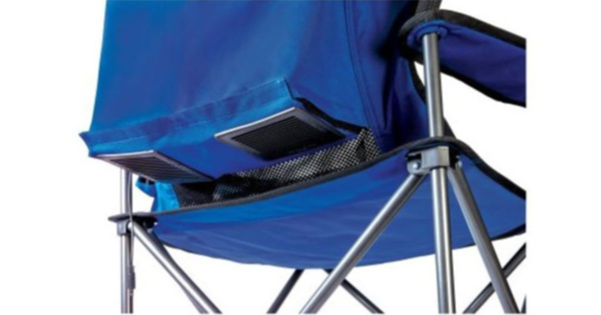 Parents, You'll Want This Folding Chair For Spring Baseball Season - It Has Fans Attached!