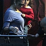 Jennifer Lopez's nanny gave Emme Anthony a lift while they were in Santiago, Chile.
