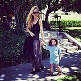 Skyler Berman and Rachel Zoe took a stroll around their neighborhood. Source: Instagram user rachelzoe