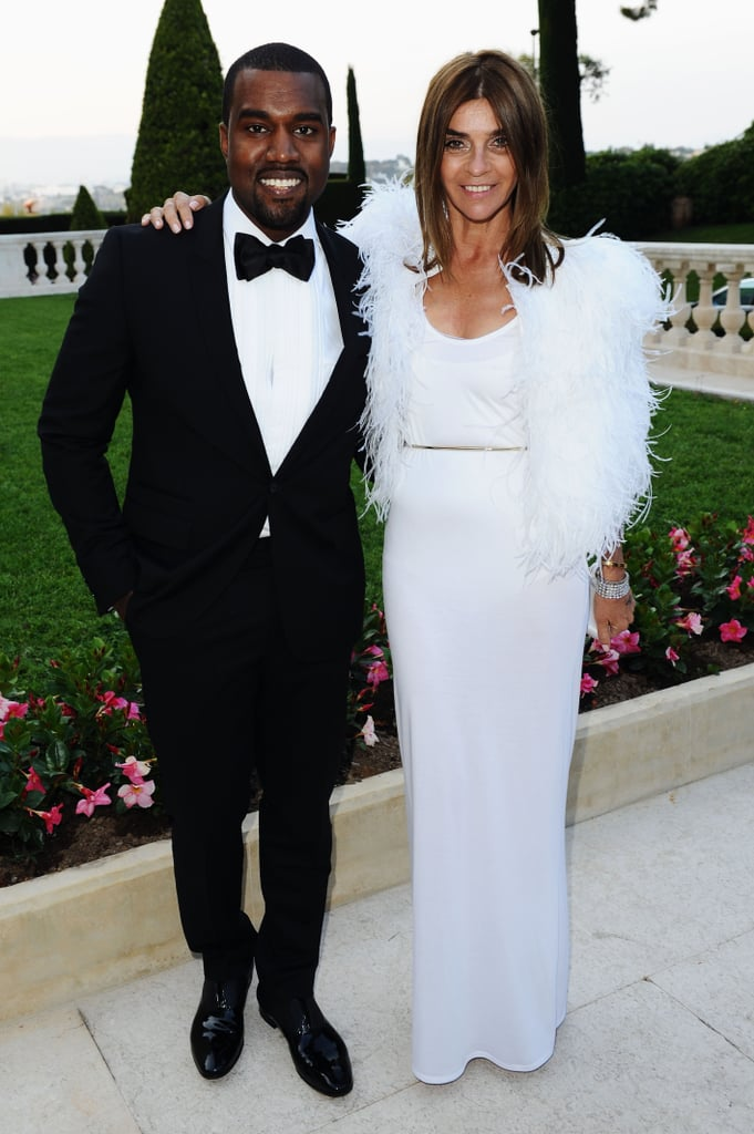 Kanye West in Givenchy and Carine Roitfeld in Givenchy couture