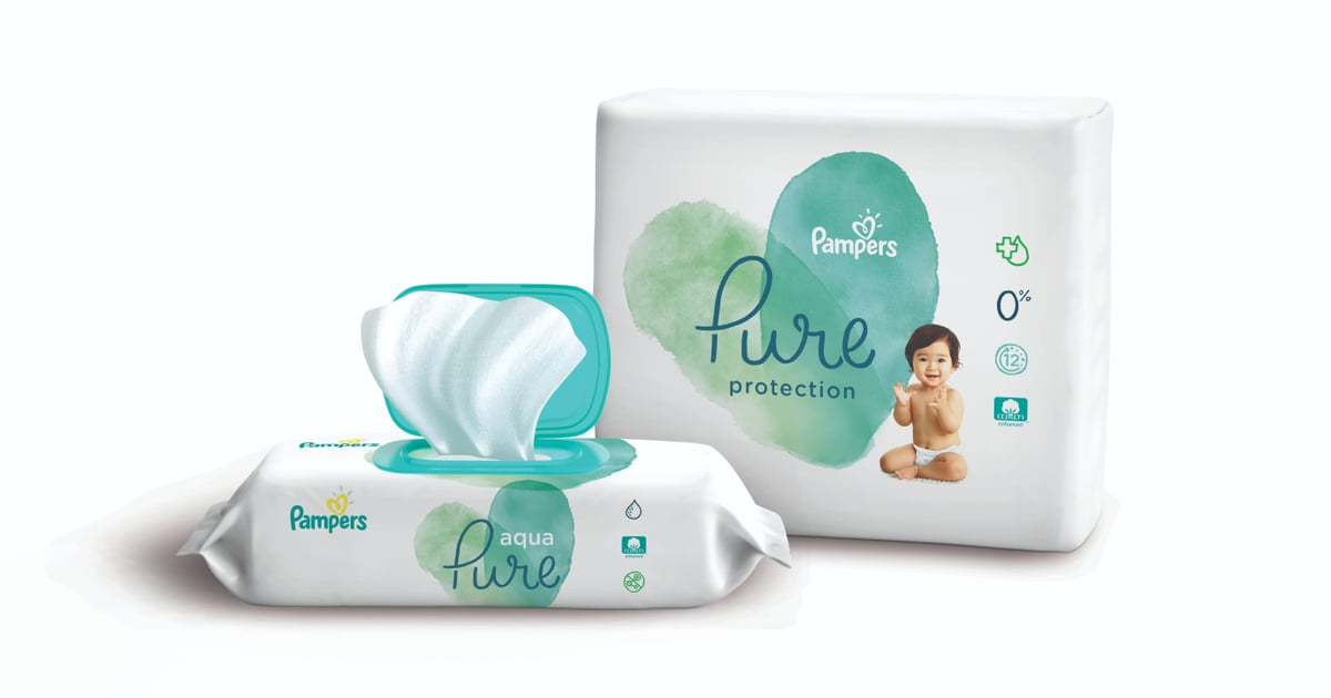 "PopsugarMomsPampersPampers Pure Diapers and WipesPampers Is Releasing ""Pure"" Diapers and Wipes With Natural Ingredients, and We"