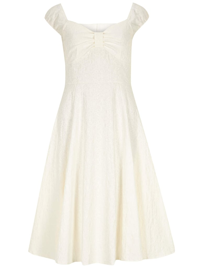 Dorothy Perkins cream brocade prom dress (£32, originally £40)