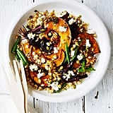 Get the recipe: roasted pumpkin, beet, chickpea, and barley salad