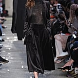 We'd love to see her try out this three-piece velvet set, working a turtleneck as the foundation to her look.
