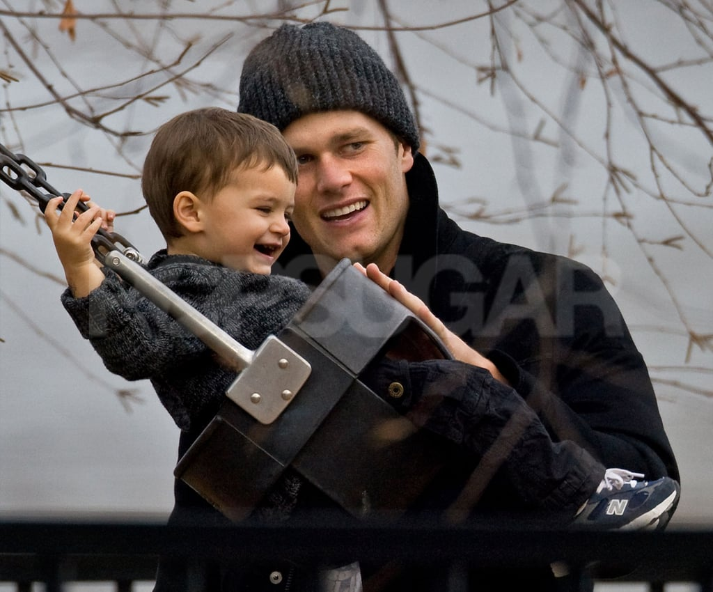 Tom Brady and Benjamin were dressed in layers for a cloudy outing in Boston this morning. The father-son duo played on the swings at a park near their home, which they also visited together last Friday. Tom took a break from dad duty this weekend when he traveled to Philadelphia for a game against the Eagles. The Patriots won 38 - 20 and they'll be back on the field for another match against the Indianapolis Colts this Sunday. While Tom has been busy on the football field, Gisele Bundchen has been hard at work in her native Brazil. She attended a Pantene event in São Paulo last week and will hit the runway to fulfill another obligation on Thursday.