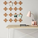 Cork Plus Signs Removable Wall Decal in Light Brown