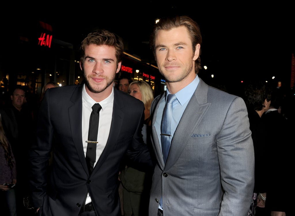 The Hemsworth brothers smoldered at the LA premiere of Thor: The Dark World in November 2013.