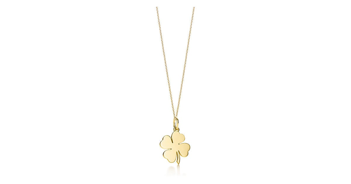 bfb880604ce5b Tiffany & Co. Four Leaf Clover Charm and Chain ($575)   Good Luck ...