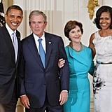 Cleaning up nicely at the Bushes' portrait ceremony in 2012