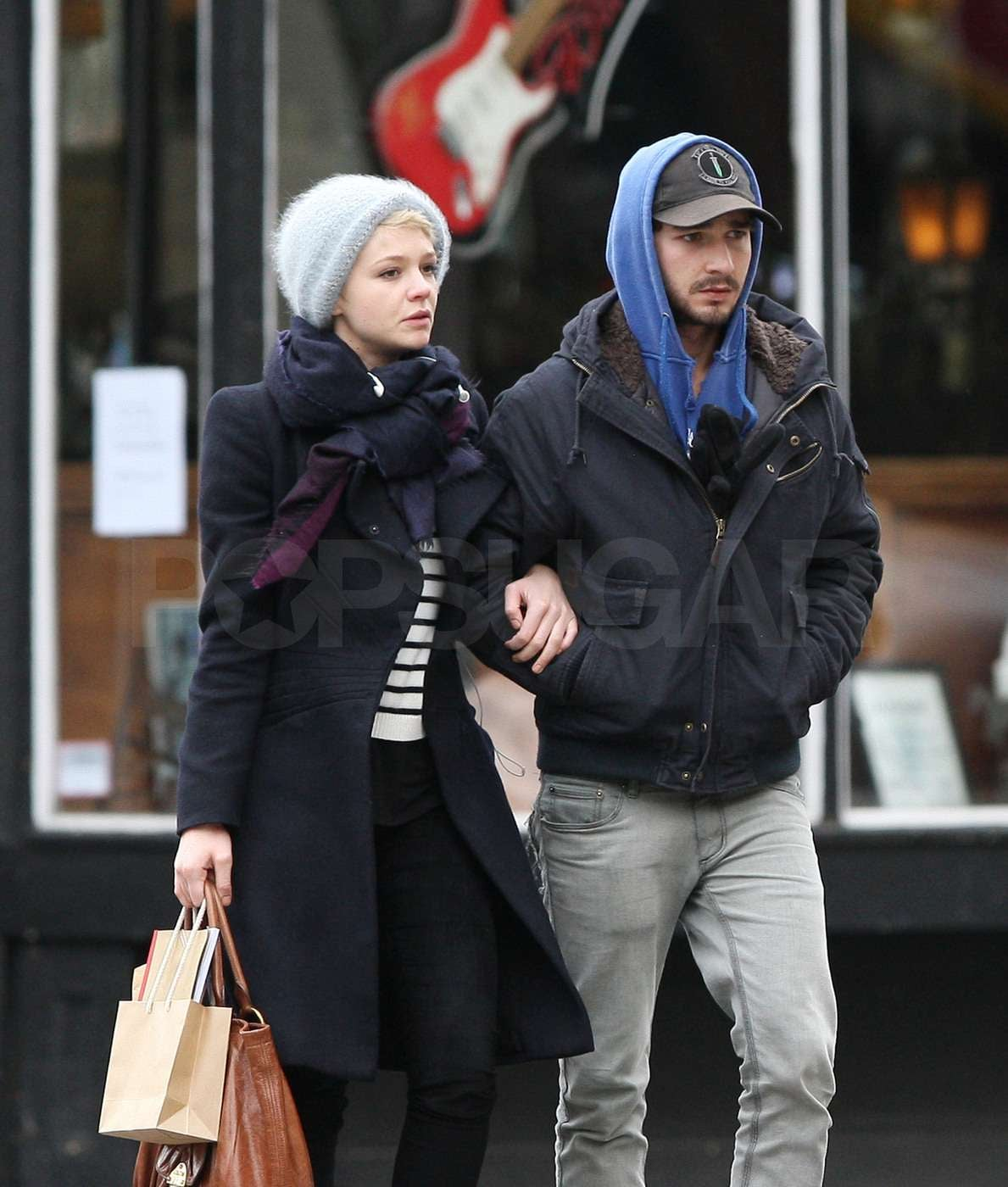 Photos of Shia LaBeouf and Carey Mulligan Kissing in New ...