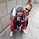 LaLa's brother and her son got into the Olympic spirit.  Source: Instagram user LaLa