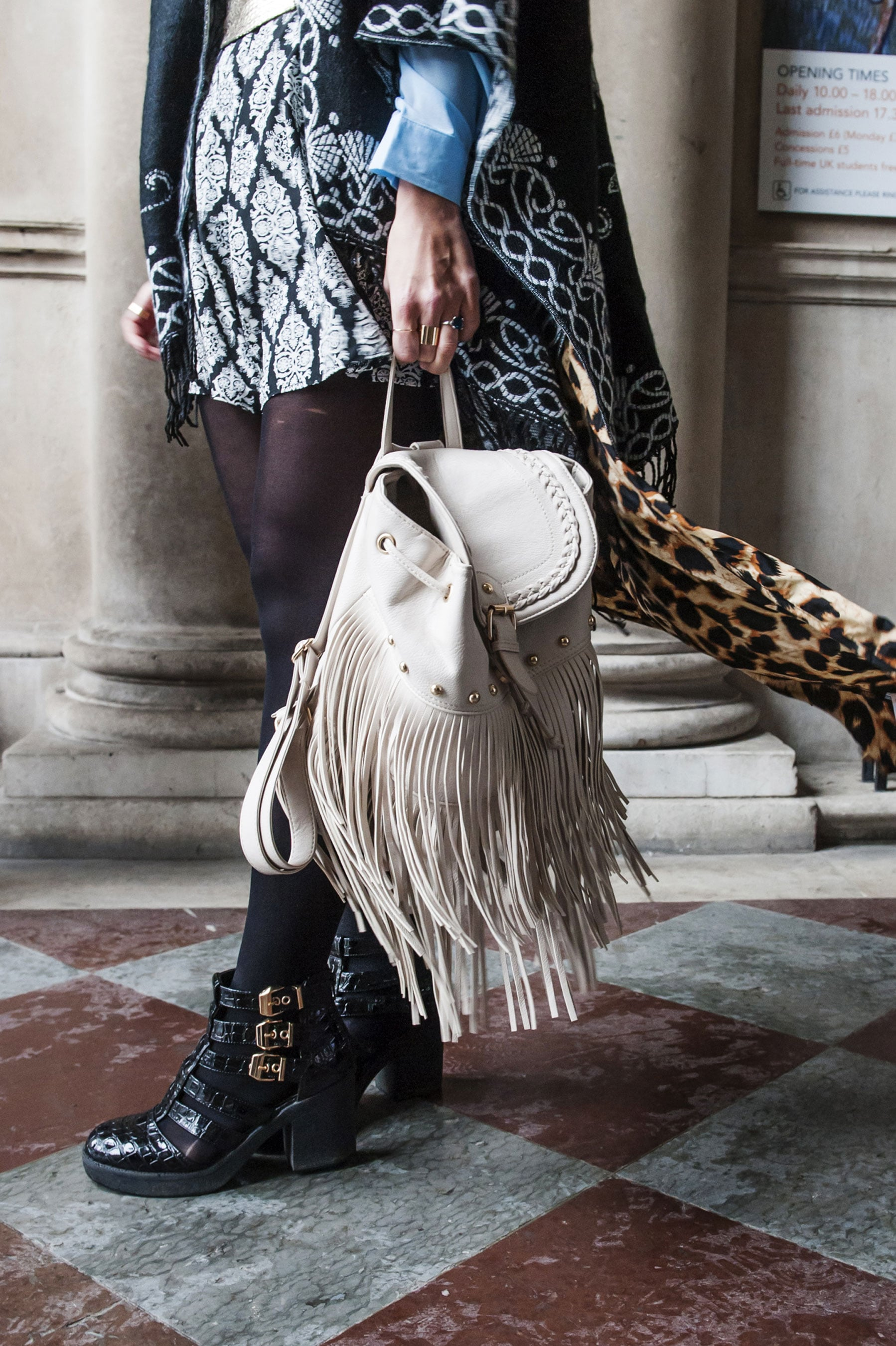 This bag has some serious fringe benefits.