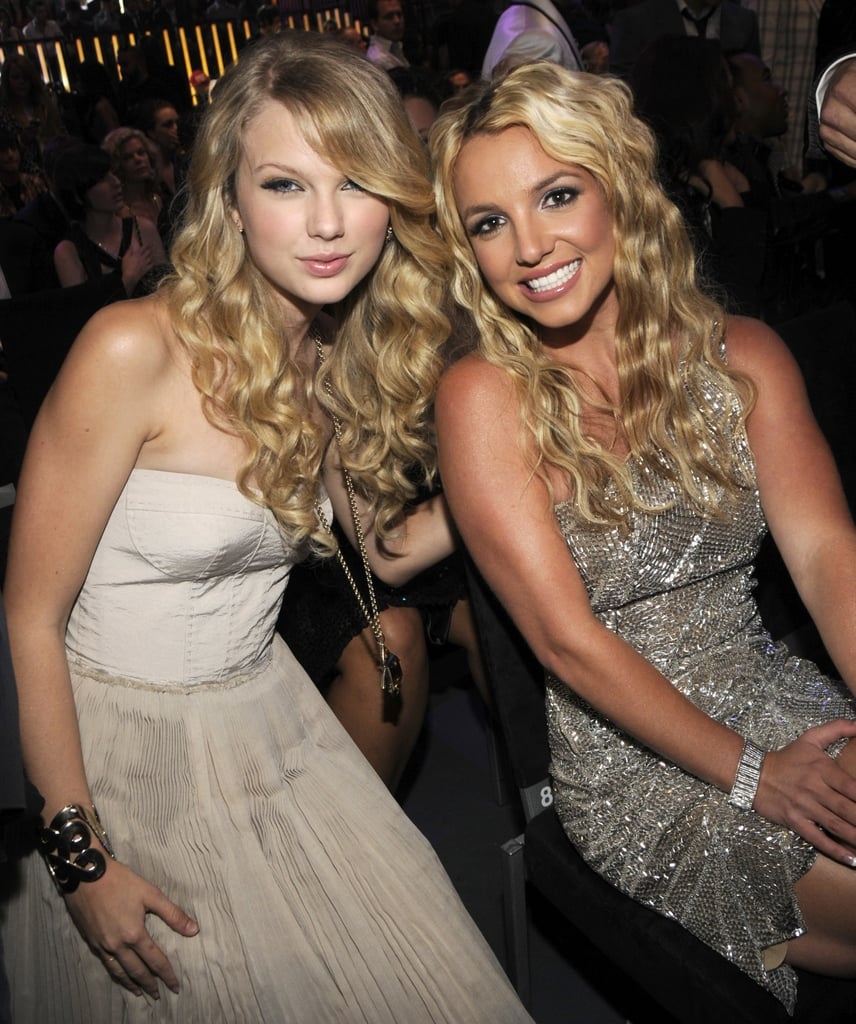 Taylor Swift buddied up to Britney Spears in the audience of the 2008 show.