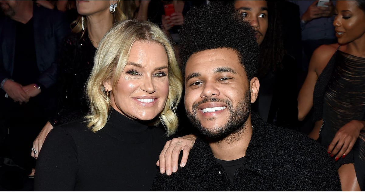 Image result for the weeknd and yolanda hadid at vs show