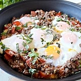 Italian Turkey and Egg Breakfast Skillet
