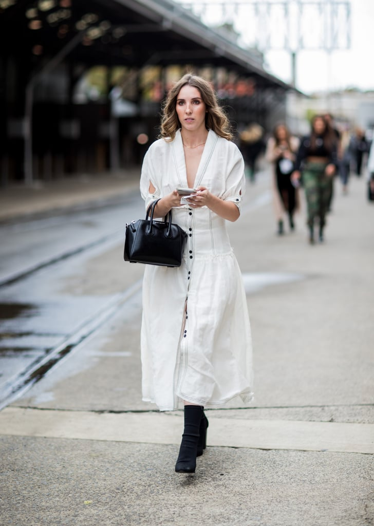 Favourite White Dress With Ankle Boots