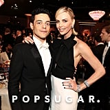 Pictured: Rami Malek and Charlize Theron