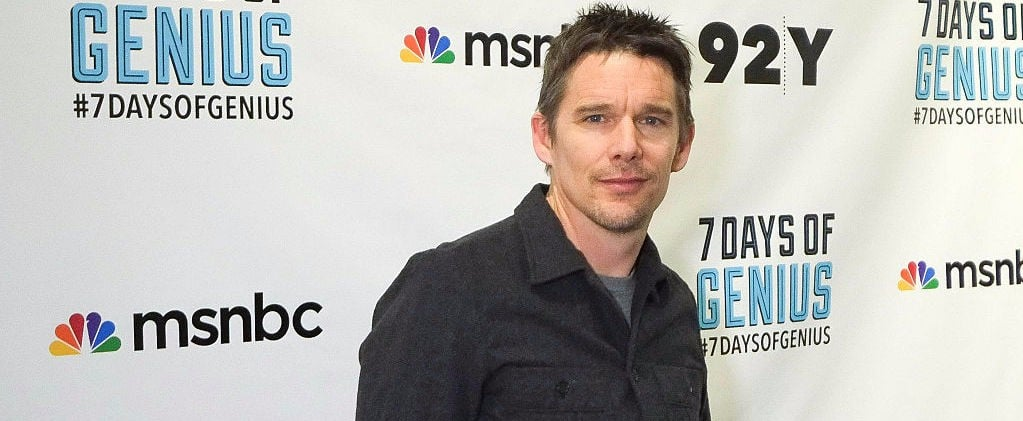 Ethan Hawke Has a Fun Night Out With His Son at a Basketball Game