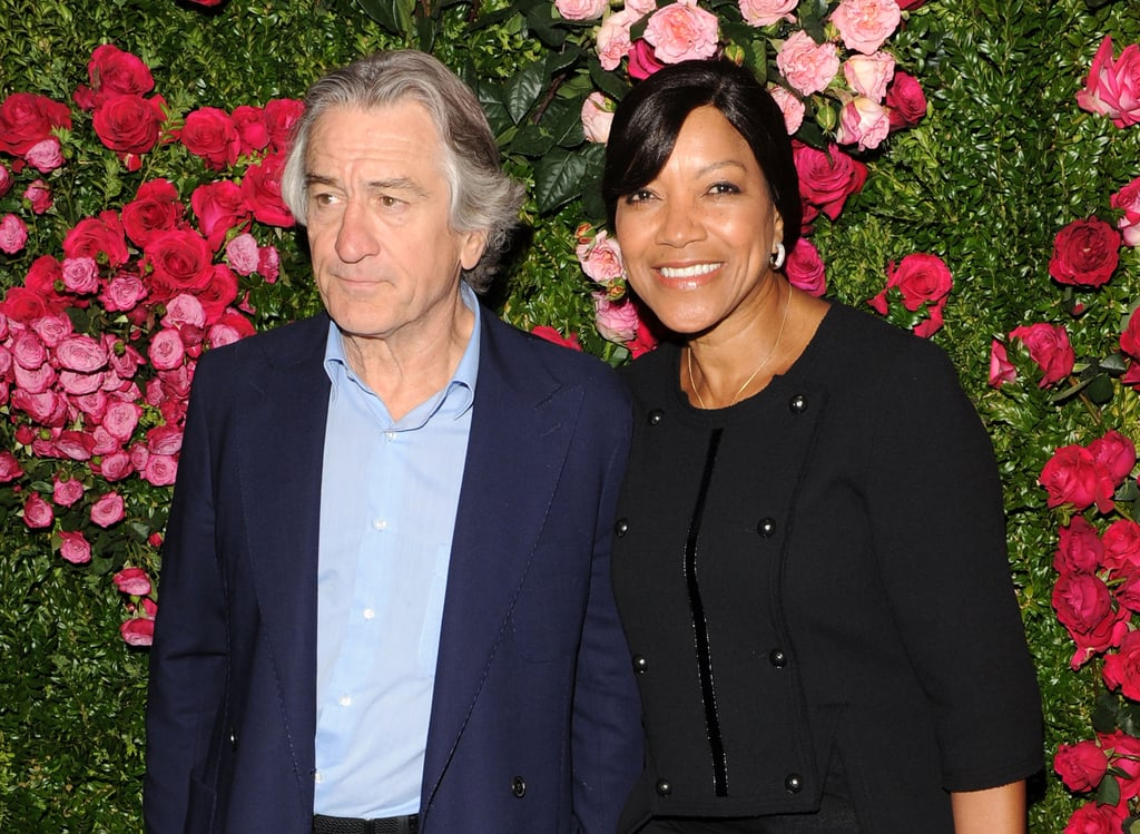 Robert De Niro and his wife, Grace Hightower, gave a smile at the Chanel dinner party at the 2012 Tribeca Film Festival.