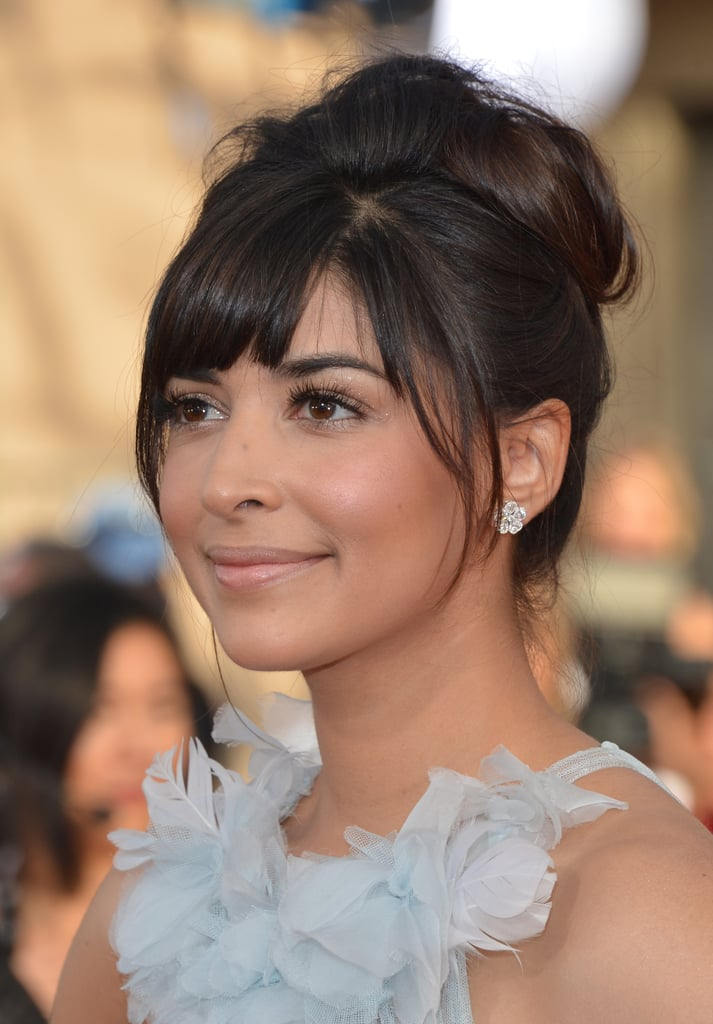 Hannah Simone How To Wear Hair Up With A Fringe