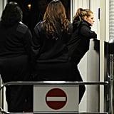 Kristen Stewart pulled her back for the flight.