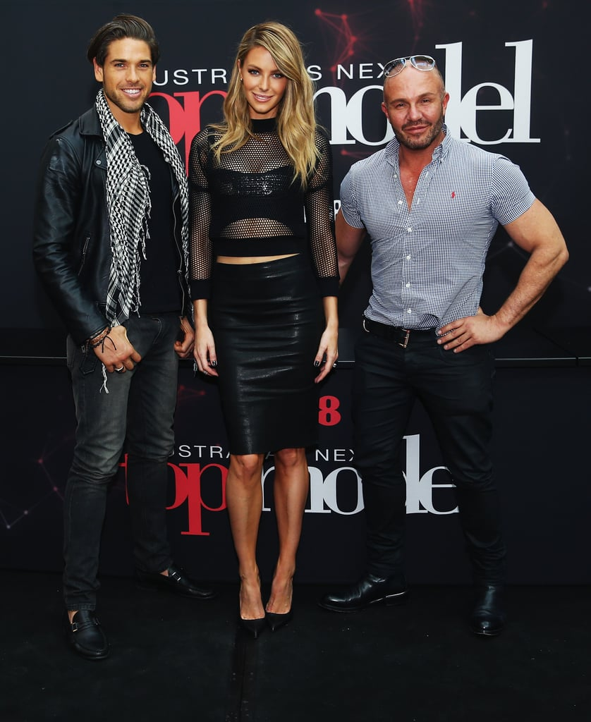 Judges Didier Cohen, Jennifer Hawkins and Alex Perry at Chatswood Chase.