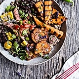Brazilian Steak and Grilled Sweet Potato Fry Quinoa Bowl