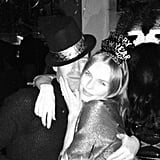 Kate Bosworth posed with her fiancé, Michael Polish, at a NYE party. Source: Twitter user katebosworth