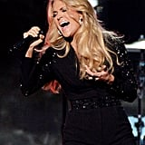 Carrie Underwood belted it out on stage.