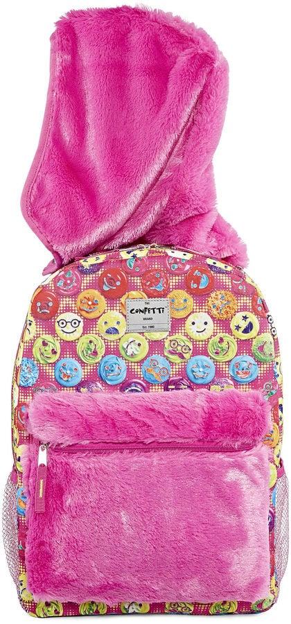 Confetti Cupcake Hooded Backpack