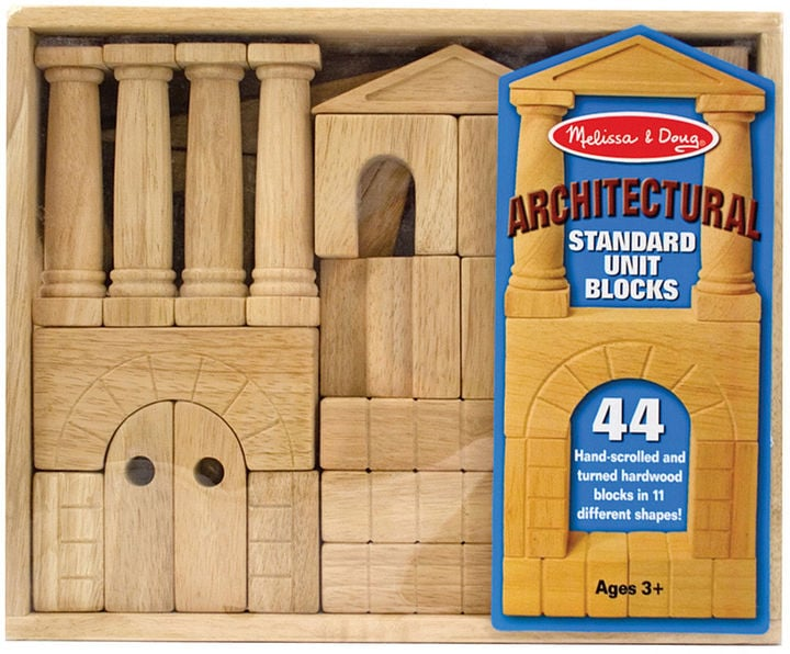 Melissa & Doug Architectural Wood Blocks